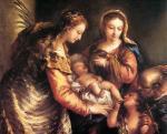 Джованни Антонио Гварди. Святое Семейство со Св.Иоанном Крестителем и Св.Екатериной. Около 1750. Музей искусств. Сиэтл