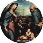Доменико Беккафуми. Святое семейство с Иоанном Крестителем. Около 1515-1525. Мюнхен. Старая пинакотека