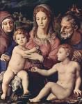 Аньоло Бронзино. Святое семейство со св.Анной и Иоанном Крестителем. 1550. Вена. Художественно-исторический музей