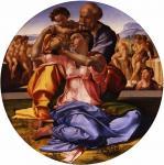 Микеланджело Буонарроти. Святое семейство с младенцем Св.Иоанном Крестителем. 1504-1505. Флоренция. Галерея Уффици