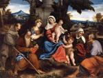 Бонифацио Веронезе (Бонифацио де Питати). Святое семейство со святыми. Около 1525. Лувр. Париж