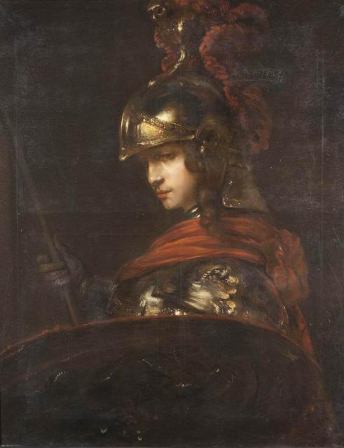 Swertschkoff W. A copy from the Rembrandt's work. Alexander the Great. 1848