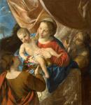 Анджело Карозелли. Святое семейство со святой Доротеей. Частная коллекция