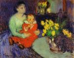 П. Пикассо. Мать и дитя перед вазой цветов. 1901
