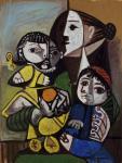 П. Пикассо. Мать и дитя с апельсином. 1951
