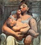 П. Пикассо. Мать и дитя. 1907