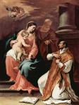 Себастьяно Риччи. Святое семейство и св.Игнатий Лойола. 1704. Париж. Частное собрание