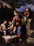 Рафаэль Санти. Святое Семейство под дубом. 1518. Музей Прадо. Мадрид