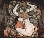 Эгон Шиле. Молодая мать. 1914