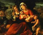 День Матери: Пальма иль Веккьо. Святое семейство с Марией Магдалиной и маленьким Иоанном Крестителем