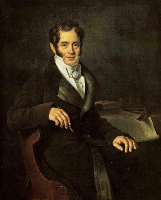Митуар Б.Ш.  Портрет архитектора К.И. Росси (1775-1849).