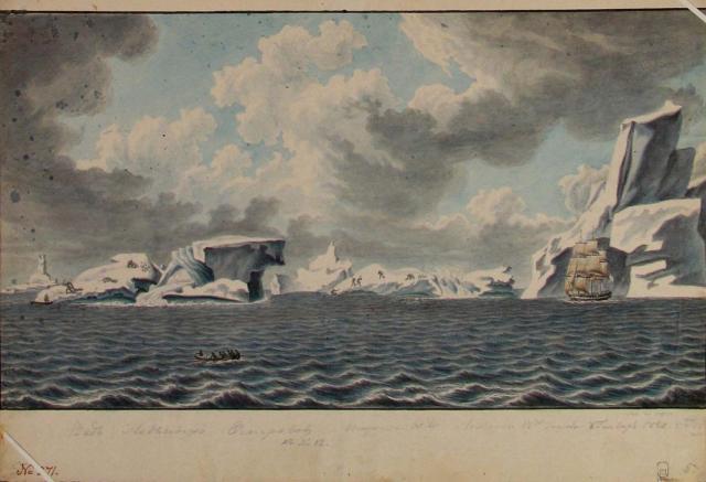 Михайлов П.Н. Айсберги в Антарктике. 8 января 1820