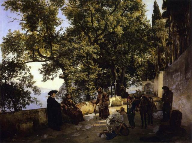 Щедрин С.Ф. Терраса на берегу моря. Капуччини близ Сорренто. 1827.