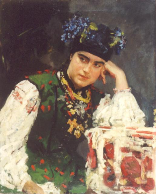 Серов В.А. Портрет С.М.Драгомировой. 1889