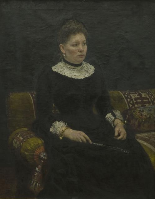 Репин И.Е. Портрет О.С.Александровой-Гейнс. 1890. ГМИИ РТ