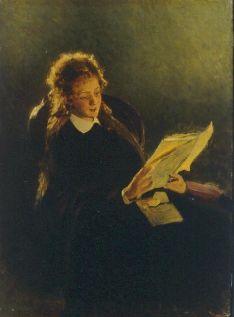 Репин И.Е. Читающая девушка. 1870. ГМИИ РТ