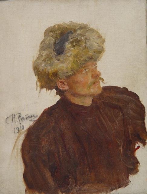 Репин И.Е. Головка казака (гайдамака). 1910.  ГМИИ РТ