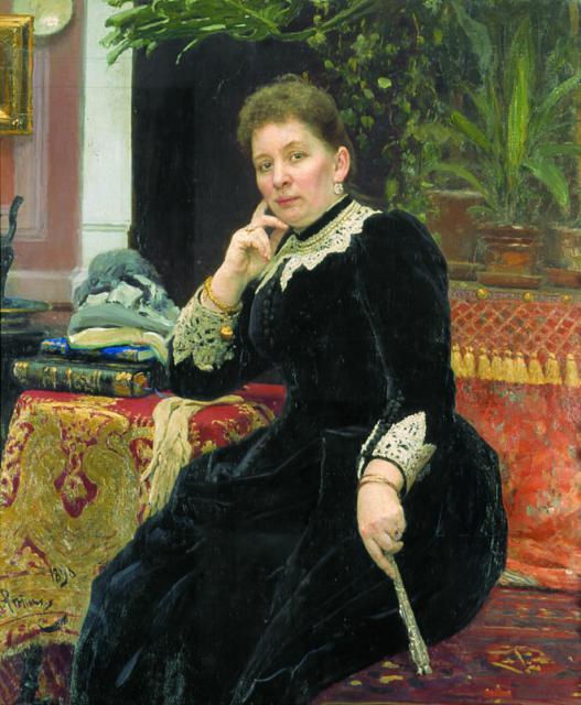 Репин И.Е. Портрет О.С.Гейнс. 1890. ГМИИ РТ