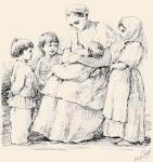 Е.М. Бём (Эндаурова). Рисунок к книге Из деревенских воспоминаний. 1882