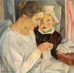 Б.Д. Григорьев. Мать и дитя. 1918