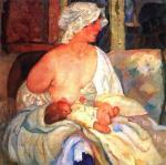 Б.Д. Григорьев. Мать. (Е.Г. Григорьева, жена художника, с сыном Кириллом). 1915