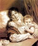 О.А. Кипренский. Мать с ребенком (Портрет госпожи Прейс). 1809. Рисунок. Государственная Третьяковская галерея. Москва