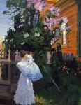 Б.М. Кустодиев. Сирень. 1906. Государственный Русский музей