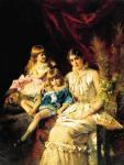К.Е. Маковский. Семейный портрет. 1882. Государственный Русский музей