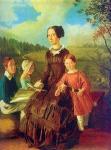 И.Ф. Хруцкий. Семейный портрет. 1854