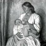 Ф.С. Шурпин. Радость материнства. 1963