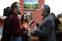 С.Н. Левандовский дает интервью калужским журналистам