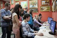 Первые посетители информационно-образовательного класса