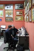 С.Н. Левандовский с журналистами