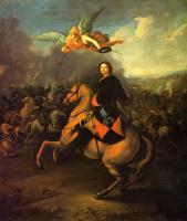 Таннауер И.Г. Петр I в Полтавской битве. 1725