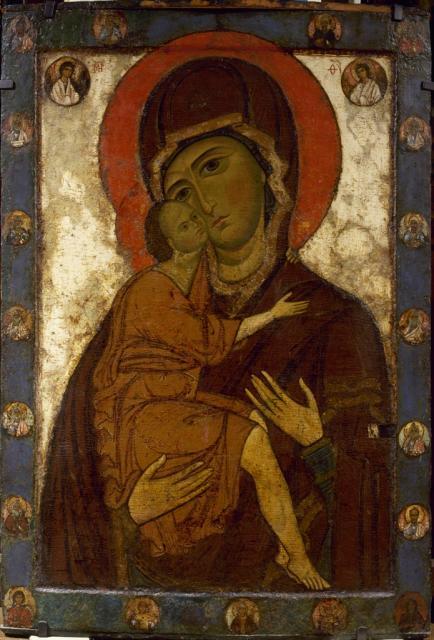 Богоматерь Умиление Белозерская. Первая половина XIII века