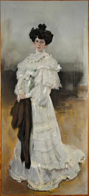 Серов В.А.  Портрет Е.А.Красильщиковой. 1906