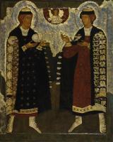 Святые князья Борис и Глеб. XVI век. Из собрания ГМИИ РТ