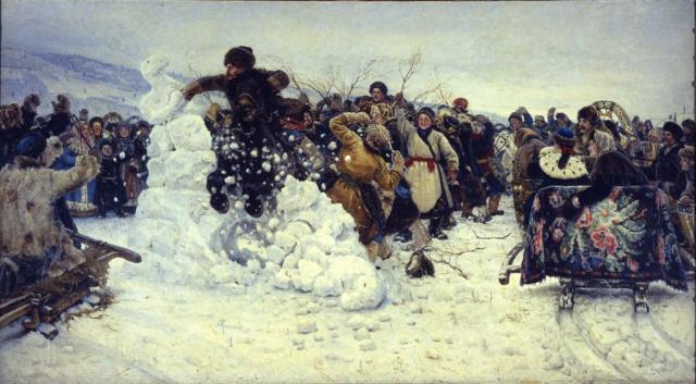 Суриков В.И. Взятие снежного городка. 1891