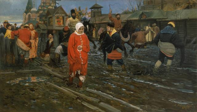 Рябушкин А.П. Московская улица XVII века в праздничный день. 1912