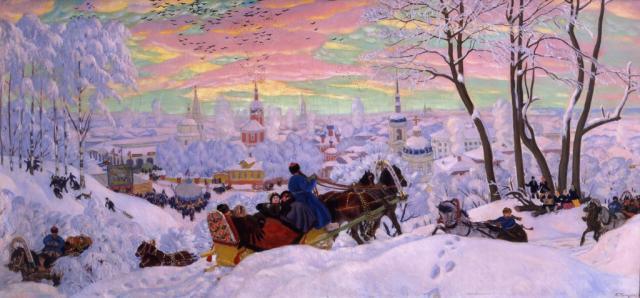 Кустодиев Б.М. Масленица. 1916