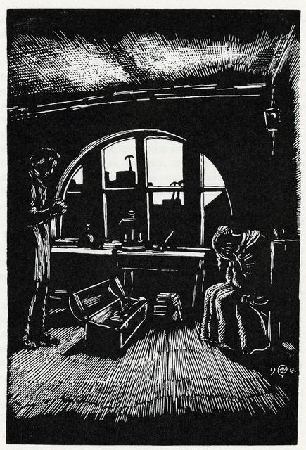 Добужинский М.В.  Ф.М. Достоевский. Белые ночи. Иллюстрация. 1922