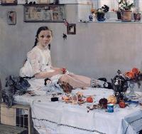 Фешин Н.И. Портрет Вари Адоратской. 1914