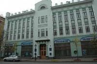 Торговый дом Сапожникова со стороны ул. Кремлевкой (бывш. Воскресенская улица)