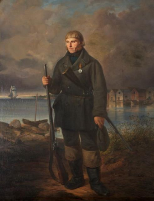 Swertschkoff W. Portrait Mats Gustafson Kankonen. 1856