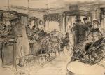 Репин И.Е. У Доминика. 1887.  ГРМ