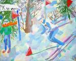 Коданева Арина «Лыжники». Школа искусств. Возр. группа 2-4 классы. II место