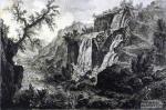Джованни Батиста Пиранези. Вид водопада в Тиволи.