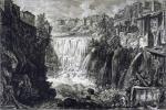 Джованни Батиста Пиранези. Вид каскада в Тиволи. 1761.
