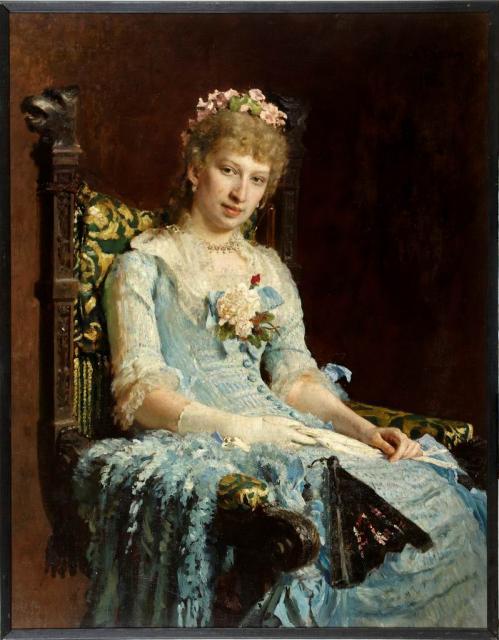 Репин И.Е. Женский портрет. 1881. ЕГМИИ
