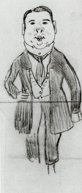 Добужинский М.В. К.А. Сомов. Карикатура. 1910-е годы. ГРМ